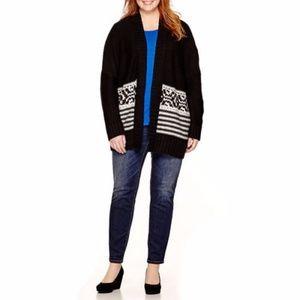 a.n.a Long-Sleeve Fairisle Cardigan Size 1X